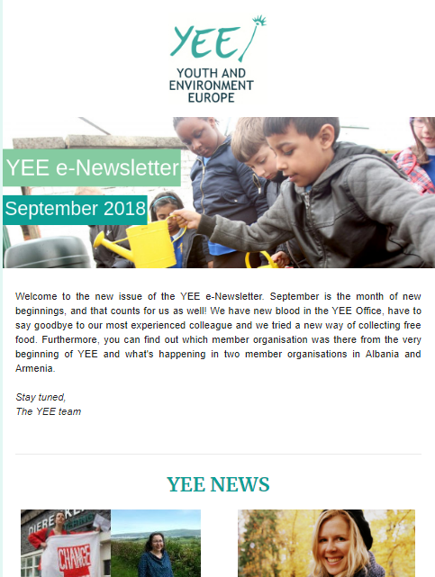 YEE newsletter