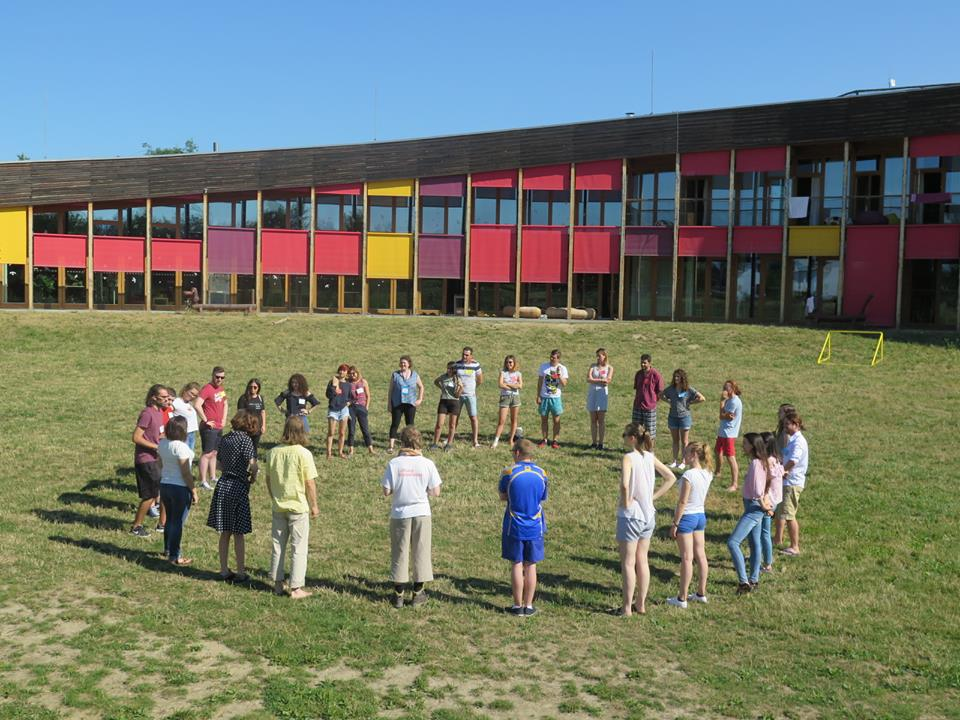 Annual Board Meeting - standing in a circle